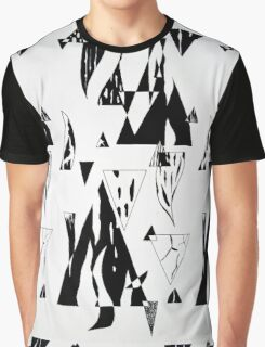 Monochrome Triangles Graphic T-Shirt