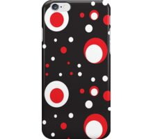 Red and White Retro Circle iPhone Case/Skin