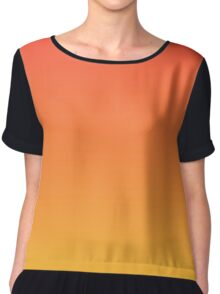modern trendy abstract Yellow Orange Ombre Chiffon Top