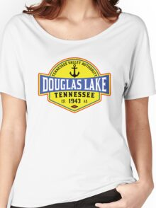 DOUGLAS LAKE TENNESSEE BOATING ANCHOR TENNESSEE VALLEY AUTHORITY TVA BOAT 2 Women's Relaxed Fit T-Shirt