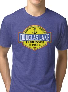 DOUGLAS LAKE TENNESSEE BOATING ANCHOR TENNESSEE VALLEY AUTHORITY TVA BOAT 2 Tri-blend T-Shirt