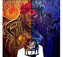 Naruto and Sasuke (sage of six paths) Photographic Print