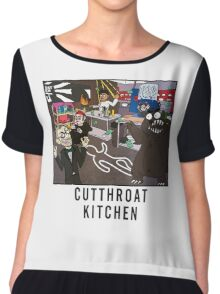 Cutthroat Kitchen Doodle Chiffon Top