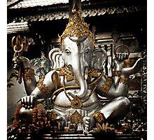 Silver Ganesh, Chiang Mai, Thailand. Photographic Print