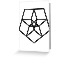 Star in a star - geometry Greeting Card