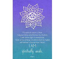Third Eye Chakra Affirmation Photographic Print