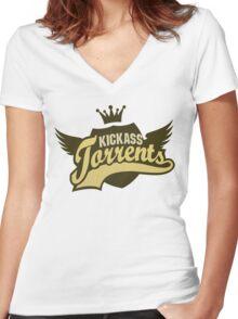 Kickass Torrents Women's Fitted V-Neck T-Shirt