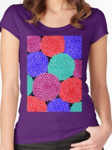 Abstract dahlias Women's Fitted Scoop T-Shirt