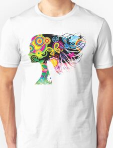 Girl with flowers Unisex T-Shirt