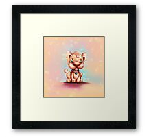 Cute Colorful Puppy Dog Framed Print