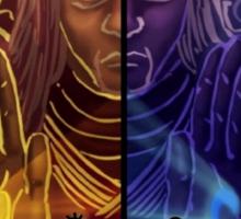 Naruto and Sasuke (sage of six paths) Sticker