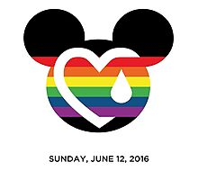 Support for the victims of the horrific shooting at Orlando's Pulse Nightclub. Photographic Print
