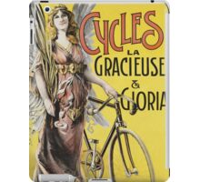 Unknown - Cycles La Gracieuse Et Gloria Poster. Woman portrait: sensual woman,  bicycle ,  bicycling ,  cycle,  cycling,  enjoy,  free time,  fun,  hobbies,  hobby,  holiday iPad Case/Skin
