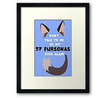 57 Fursonas Framed Print