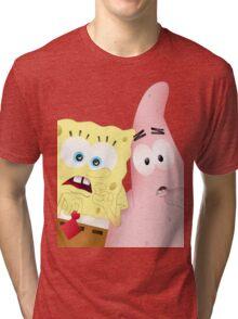 Spongebob & Patrick Tri-blend T-Shirt