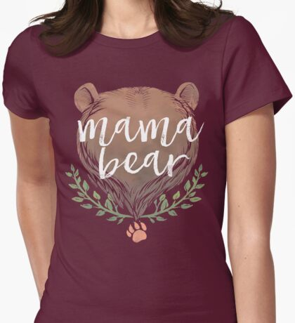 MAMA BEAR Womens Fitted T-Shirt