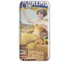 Unknown - Duc De Bremont - Veuve Amiot. Woman portrait: sensual woman,  bunch,  grapes,  lovely woman,  enjoying ,  champagne,  beautiful ,  bottle ,  market, sexy lady, erotic pose iPhone Case/Skin
