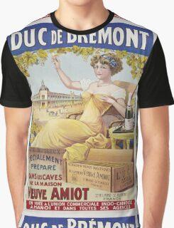 Unknown - Duc De Bremont - Veuve Amiot. Woman portrait: sensual woman,  bunch,  grapes,  lovely woman,  enjoying ,  champagne,  beautiful ,  bottle ,  market, sexy lady, erotic pose Graphic T-Shirt