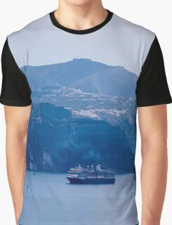 Santorini panorama 7 Graphic T-Shirt