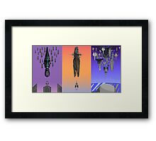 Mass Effect 1-3 final missions poster Framed Print