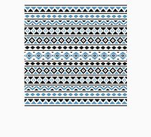 Aztec Essence Pattern II Light Blue Black White Unisex T-Shirt