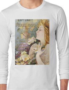 Unknown - Grand Prix Poster. Woman portrait: sensual woman,  attractive,  beautiful ,  brunette ,  cheerful,  glad ,  happy,  head and shoulders,  hugging,  pleasing,  pleasure Long Sleeve T-Shirt