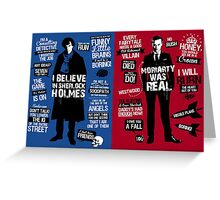 sherlock and moriaty Greeting Card