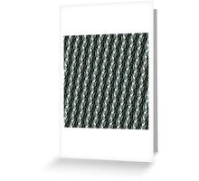 sculpted duck feather pattern in gray tones Greeting Card