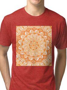 Orange mandala Tri-blend T-Shirt