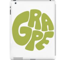 Type O' Grape - Green iPad Case/Skin