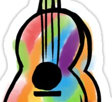 Rainbow Colorful Ukulele Splatter Thing  Sticker
