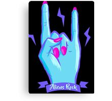 Aliens Rock Canvas Print
