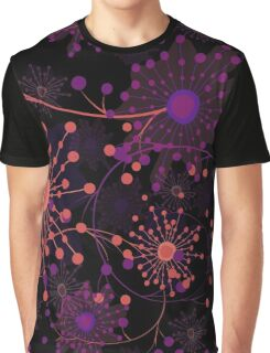 Seamless floral pattern with cute cartoon flowers print background Graphic T-Shirt