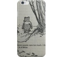 Winnie the pooh quote iPhone Case/Skin