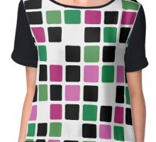 Abstract modern squares seamless pattern texture bright colors background Chiffon Top