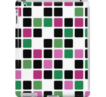 Abstract modern squares seamless pattern texture bright colors background iPad Case/Skin