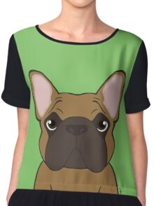 Seriously Frenchie - Fawn  Chiffon Top