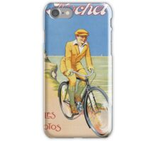 Unknown - Rochet Cycles Motos Poster. Man portrait: strong man,  bicycle ,  bicycling ,  cycle,  cycling,  enjoy,  free time,  fun,  hobbies,  hobby,  holiday iPhone Case/Skin
