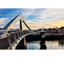 Sunset on Tradeston Footbridge Photographic Print