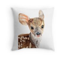 Cute Baby Deer/ Fawn Throw Pillow