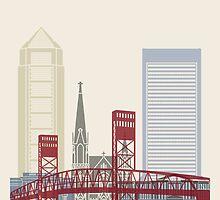 Jacksonville skyline poster by paulrommer