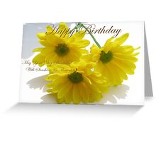 Birthday Card - Sunshine and Flowers Greeting Card