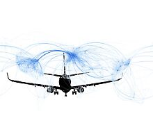 World airline routes Photographic Print