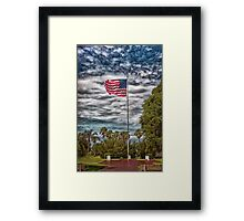 Proudly Waving Framed Print