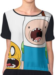 Adventure Time Finn and Jake Chiffon Top