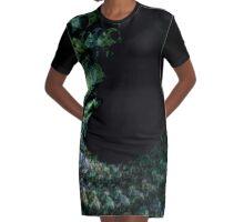 Green Spiral abstract Graphic T-Shirt Dress