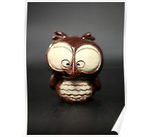 Cross eyed owl Poster