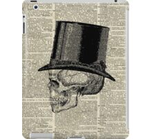 Death Skull with Victorian Hat iPad Case/Skin