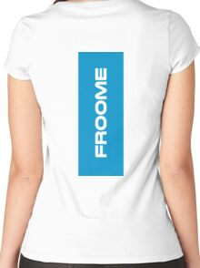 Froome blue Women's Fitted Scoop T-Shirt