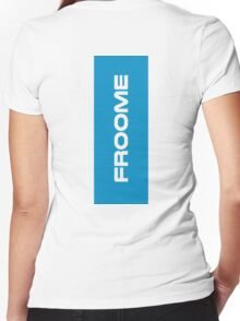 Froome blue Women's Fitted V-Neck T-Shirt